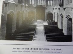 Interior, Dutch Reformed South Church, New York, NY, 1914. Cram, Goodhue & Ferguson.