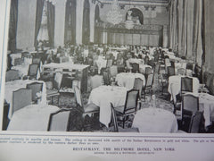 Restaurant, The Biltmore Hotel, New York, NY, 1914. Warren & Wetmore.