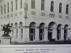 Exterior, Masonic Temple, San Francisco, CA, 1914. Bliss & Faville.