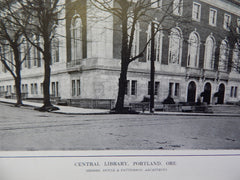 Exterior, Central Library, Portland, OR, 1914. Doyle & Patterson.