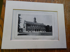 Details of Town Hall, Needham, MA,1904,Lithograph. Winslow & Bigelow.