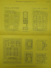 Competitive Plans for the Hospital Boucicaut in Paris, France, 1893. M. M. Le Gros