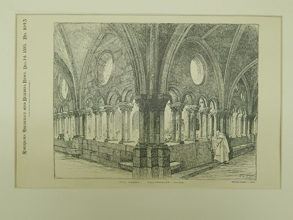 Old Abbey in Fontfroide, France, 1895