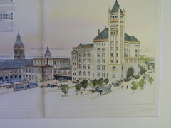 Union Station, Toronto, Canada, 1894. Original Plan. Strickland & Symons.