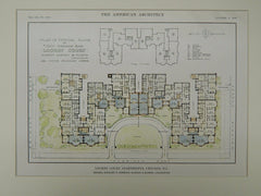 Lochby Court Apartments, Chicago, IL, 1916, Original Plan. Schmidt, Garden & Martin.