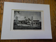 House of John T. J. Clunie, West Manchester, MA, 1928, Lithograph. Walker, Walker & Kingsbury.