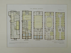 Floor Plans, Young Men's Christian Association, Savannah, GA, 1909, Orig. Plan. Wallin & Young.