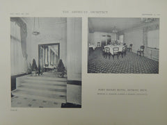 Dining Room, Fort Shelby Hotel, Detroit, MI, 1918, Lithograph. Schmidt, Garden & Martin.