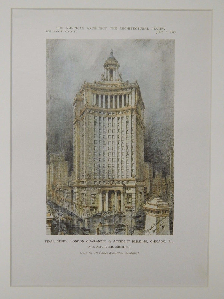 London Guarantee & Accident Building, Chicago, IL, 1923, Original Plan. A. S. Alschuler.