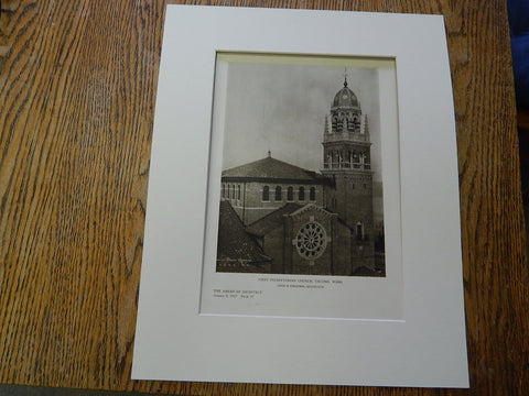 First Presbyterian Church, Tacoma, Washington,1927, Lithograph. Cram & Ferguson.