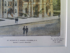 St. Peter's R.C. Church, Columbia, SC, 1902. Original Plan. George Lovatt.