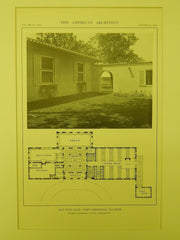 Floor Plan, Old Elm Club, Fort Sheridan, IL, 1914, Lithograph. Marshall & Fox.