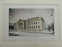 Norfolk County Registry of Deeds, Dedham, MA, 1905. Original Plan. Peabody & Stearns.