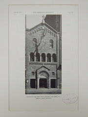 Entrance, Church of the Most Holy Crucifix, New York, NY, 1929, Lithograph. Robert J. Reiley.