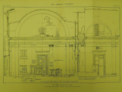 Court Room Details, Post Office, Oklahoma City, OK, 1912, Original Plan. James Knox Taylor.