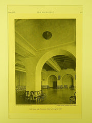 Ball Room, Lake Norconian Club, Los Angeles, CA, 1930, Lithograph. Dwight Gibbs.