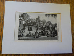 Fred Thompson Court, Mary Helen Tea Room, Hollywood, CA, 1928,Lithograph. C.J. Weyl.