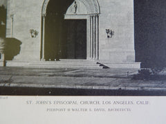 St. John's Episcopal Church, Los Angeles, CA, 1928, Lithograph, Pierpont & Davis.