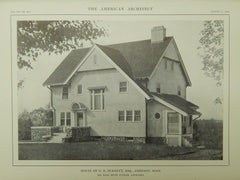 House of G. B. Burnett, Esq., Amherst,, MA, 1914, Lithograph. Karl Scott Putnam.