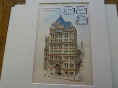 The Mortimer Building, New York, NY 1886 Original Plan. George B. Post.