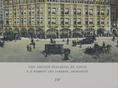 The Arcade Building, St. Louis, MO, 1918, Original Plan. T. P. Barnett and Company.