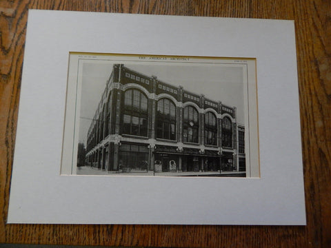 Building for B.F. Goodrich Rubber Co,Detroit,MI, Lithograph,1914. Wilby.