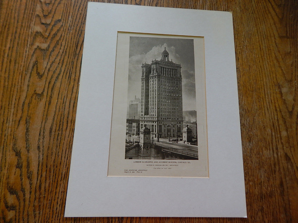 London Guarantee and Accident Building, Chicago, IL, 1924, Lithograph. Alfred S. Alschulter, Inc.