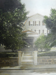 Estate of Charles G.W. Bond, Swampscott, MA, 1905. Colored Photograph. James T. Kelley.