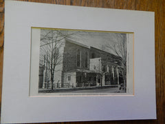 All Saints Church, Brookline, MA, 1928, Lithograph. Cram&Ferguson.