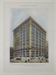 Gomery-Schwarz Co. Sales and Service Building, Philadelphia, PA, 1918, Original Plan. Charles E. Oelschlager.