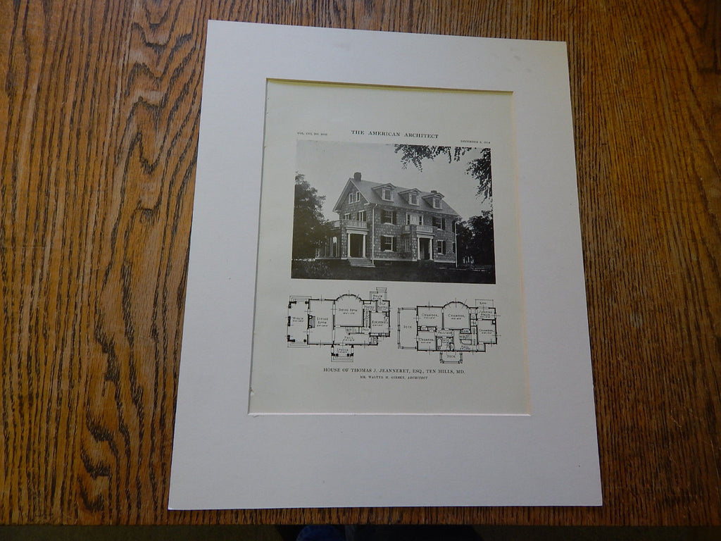 House of Thomas J. Jeanneret,ESQ., MD,Lithograph,1914. Gieske.