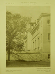 Perspective View, Throop Polytechnic Institute, Pasadena, CA, 1910, Lithograph. Hunt & Grey.