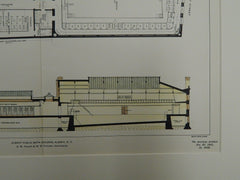 Albany Public Bath Building, Albany, New York, 1901. Original Plan. Fuller & Pitcher.