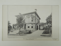 House of Mrs. A. W. Armour, Kansas City, MO, 1903, Photogravure. Van Brunt & Howe.