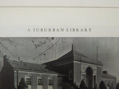 Exterior, Hagaman Memorial Library, East Haven, CT, 1929, Lithograph. Davis & Walldorff.