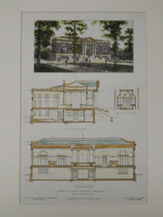 Library, Furman University, Greenville, SC, 1906, Original Plan. Frank E. Perkins.
