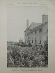 View of Rear, House of E. E. Bartlett, Amagansett, NY, 1916, Lithograph. W.L. Bottomley.