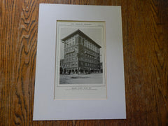 Masonic Temple, Salem,OR, Lithograph,1914. Lawrence & Holford.