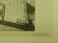 Drawing-Room, House of A. W. Armour, Kansas City, MO, 1903, Photogravure. Van Brunt & Howe.