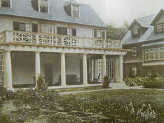 House of Henry Howard, Esq., Garden Front, Brookline, MA. 1688.Colored Photograph. Charles A. Platt