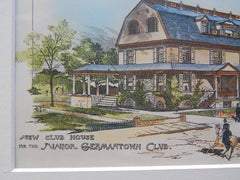 Club House for the Junior Germantown Club, Germantown, PA, 1890. Original Plan. Geo. T. Pearson.