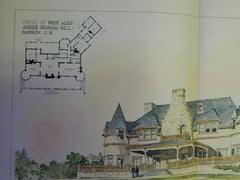 House of Prof. Alexander Graham Bell, Cape Breton, Canada, 1894. Original Plan. Cabott, Everett, & Mead.
