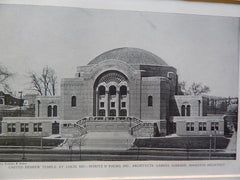 United Hebrew Temple, St.Louis, MO,1928, Lithograph. Maritz & Young, Inc.