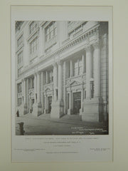 Main Entrance, Public School No. 62, New York, NY, 1908, Lithograph. C. B. J. Snyder.