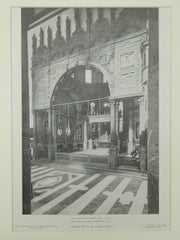 Rood and Chapel Screens, San Lorenzo, Genoa, Italy, 1906, Lithograph.