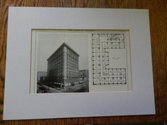 Union Oil Building, Los Angeles, CA, Lithograph,1914. Parkinson & Bergstrom.