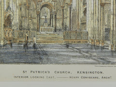 Interior: St. Patrick's Church in Kensington, England, 1873. Henry Conybeare