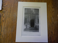 Doorway,House of J.N. Jaros, West End Ave, NY, 1905,Lithograph. Daus.