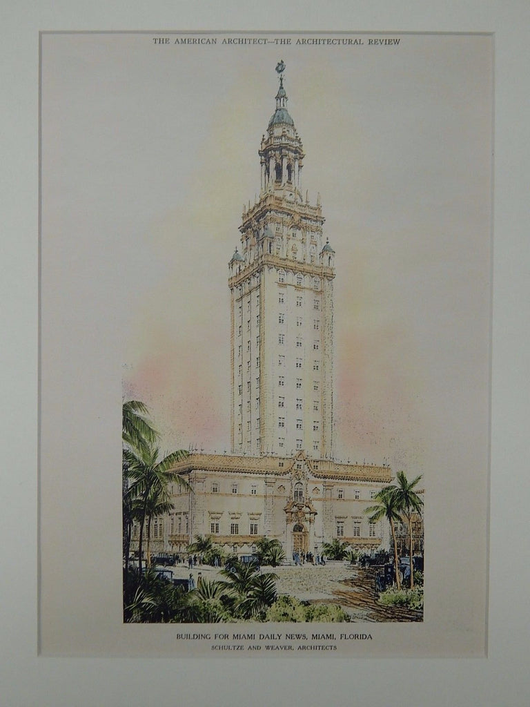Building for Miami Daily News, Miami, FL, 1924, Original Plan. Schultze & Weaver.