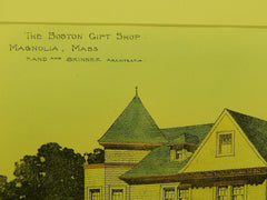 Boston Gift Shop in Magnolia MA, 1901. Rand & Skinner. Original